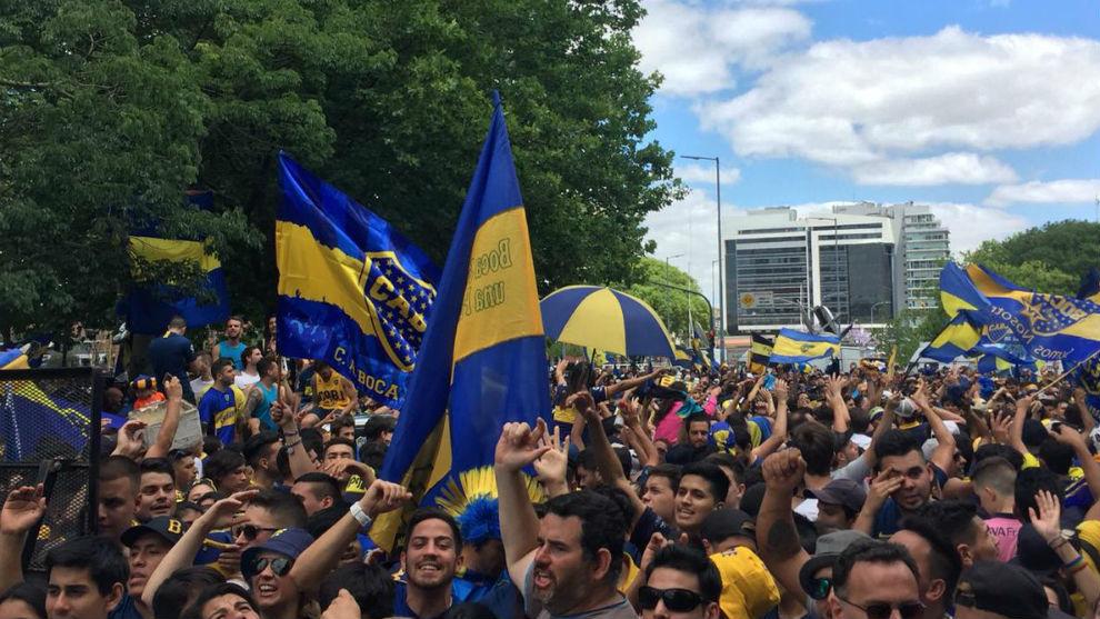 Banderazo de Boca Juniors