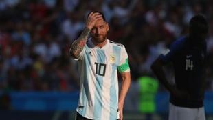 Messi en Rusia 2018 tras ser eliminado por Francia