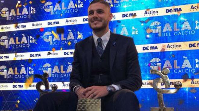Mauro Icardi fue elegido mejor jugador de Italia