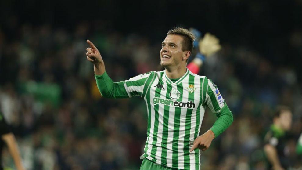 Lo Celso celebra su gol.