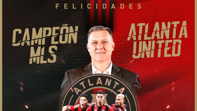 Gerardo Martino y el Atlanta United, campeones