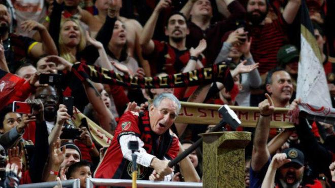 Los festejos del Atlanta United, con Martino al frente