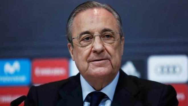 Florentino Pérez, presidente de Real Madrid, club que hospedó la...