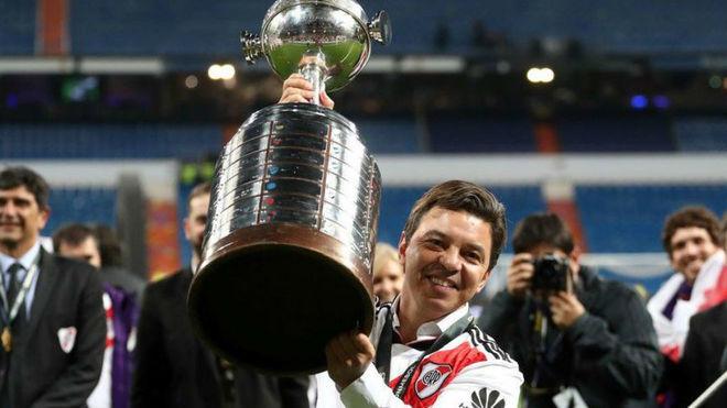 Marcelo Gallardo, el único DT ganador de dos Libertadores en River.