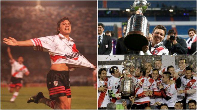 Gallardo ganó la Copa Libertadores en 1996, 2015 y 2018.