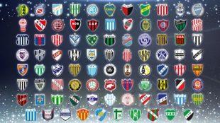 Los 87 equipos clasificados a la Copa Argentina 2019