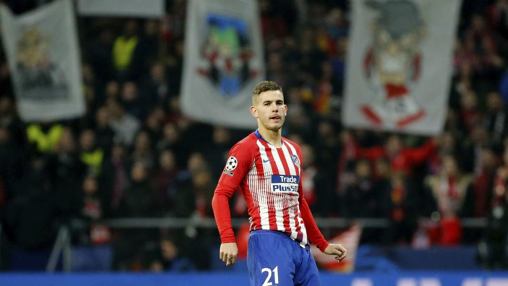 Lucas, en un partido con el Atlético de Madrid.