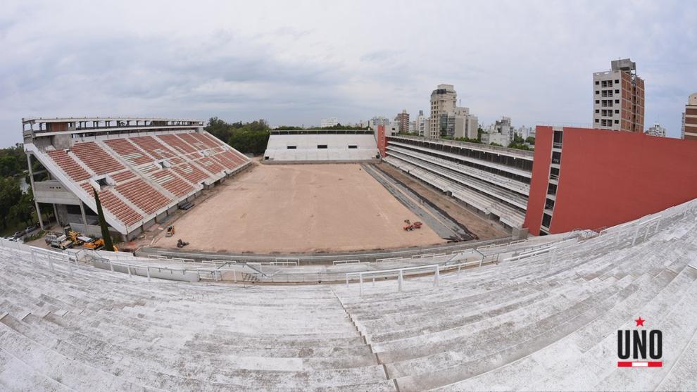 Vista panorámica de la obra en el Estadio Jorge Luis Hirschi