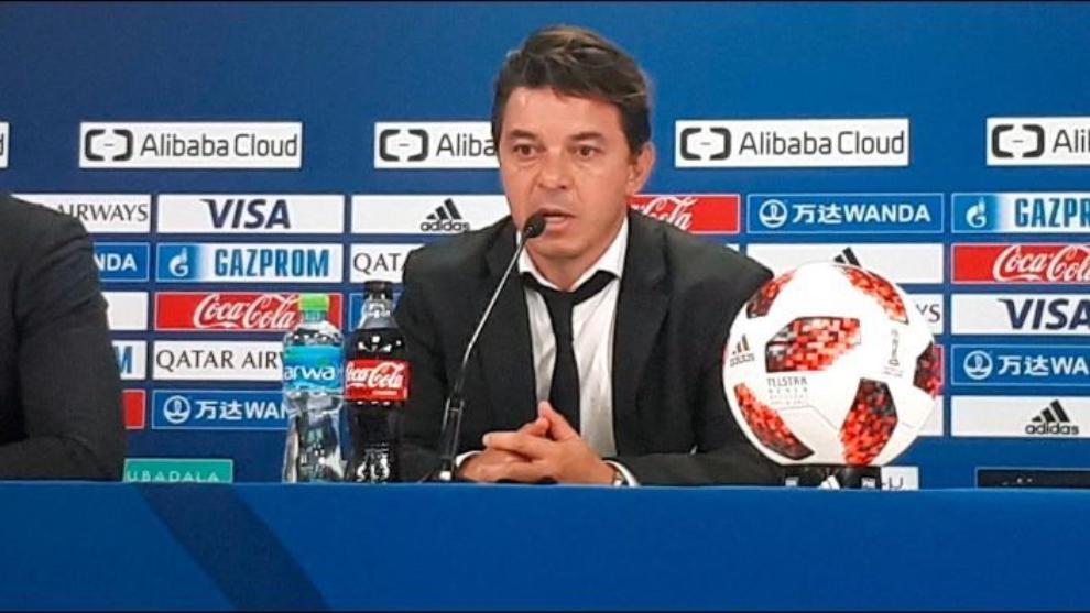 Gallardo en conferencia de prensa tras el tercer puesto del Mundial de...