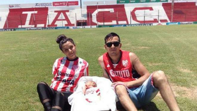Los padres de Wanchope visitaron el Estadio Juan Domingo Perón