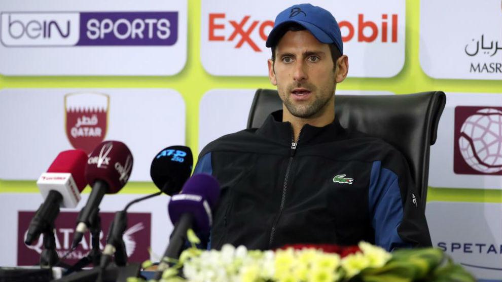 Djokovic, en rueda de prensa.