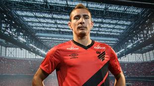 Marco Ruben fue presentado en Atlético Paranaense