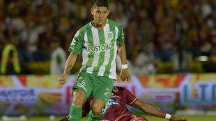 Jorman Campuzano en un partido con el Atlético Nacional.