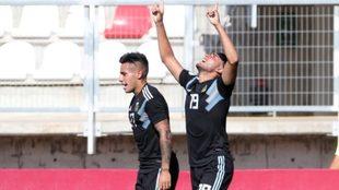Maxi Romero convirtió el tanto de Argentina ante Paraguay