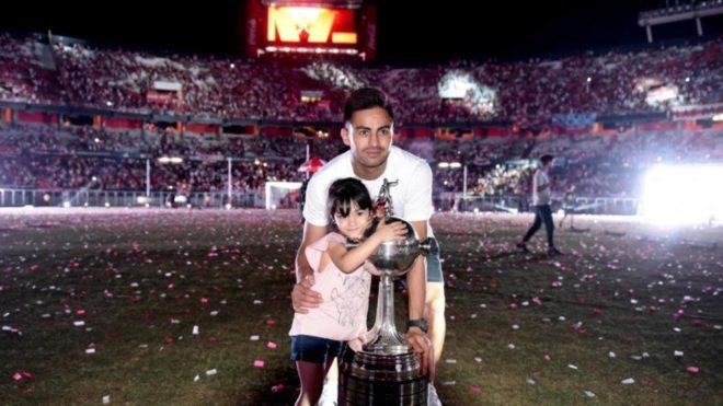 Gonzalo Martínez se marcha de River con dos Libertadores ganadas.