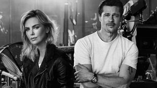 Charlize Theron y Brad Pitt posan para Breitling en la campaña...