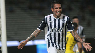 Moreno marcó por duplicado en su debut con Talleres