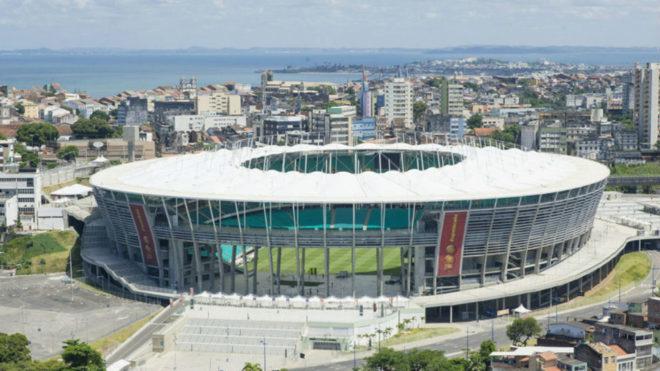El Arena Fonte Nova, Salvador de Bahía será el estadio del debut...