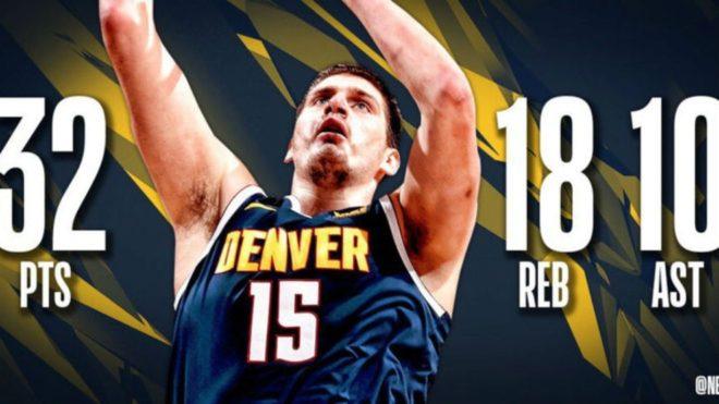 Jokic alcanza un hito que no se veía en la NBA en los últimos 57...