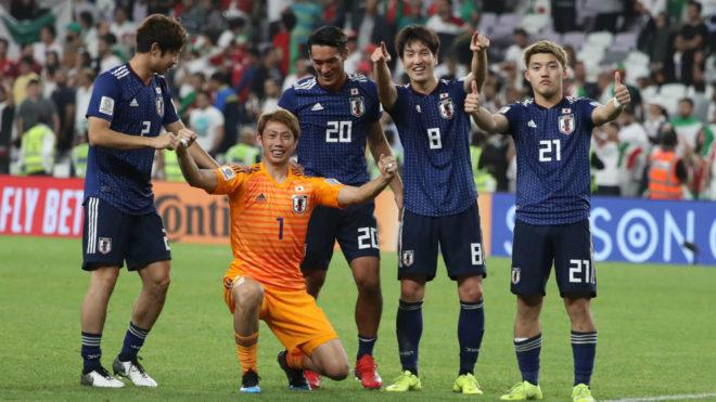 Japón celebra su pase a la final de la Copa Asia 2019
