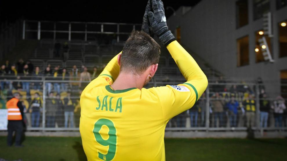 Emiliano Sala, en un partido con el Nantes.