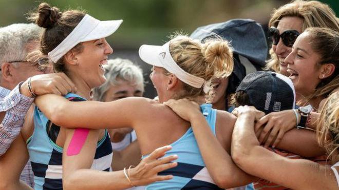 Argentina festeja su permanencia en la Fed Cup