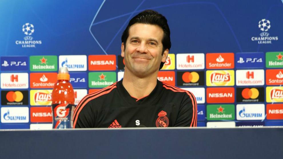Santiago Solari en rueda de prensa.