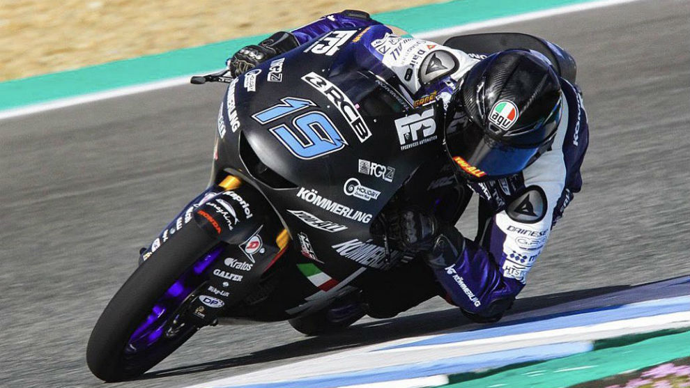 Gabriel Rodrigo, en los entrenamientos de Jerez.