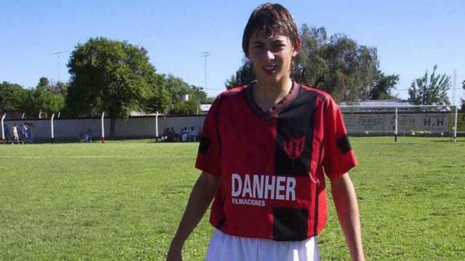 Emiliano Sala durante sus inicios en Progreso.
