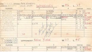 Aparece el acta de la mayor exhibición de la NBA: los 100 puntos de...