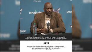 Michael Jordan recuerda por qué es el mejor de la historia: más...
