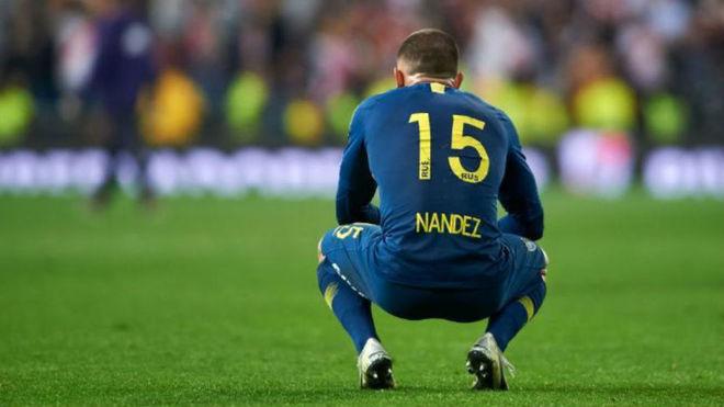El último partido de Nández fue la final de la Copa Libertadores