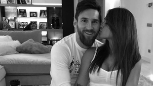 Leo Messi y Anto Rocuzzo festejaron San Valentín