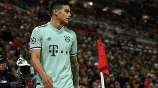James Rodriguez, futbolista colombiano de Bayern Munich.