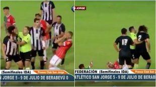 Martín Costa golpea a sus rivales en Santa Fe.