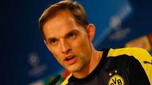 Thomas Tuchel como entrenador del Borussia Dortmund.