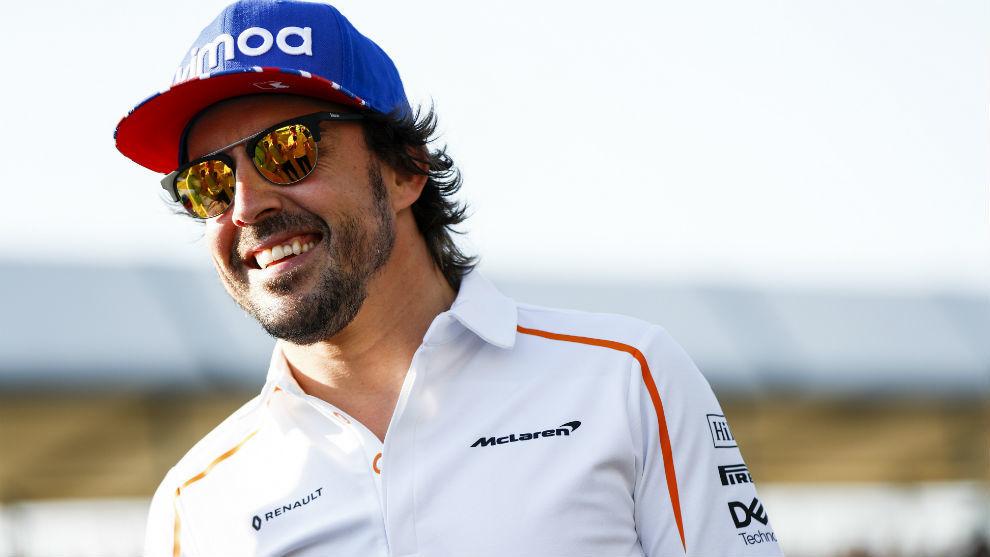 Fernando Alonso, en el circuito de Catalunya.