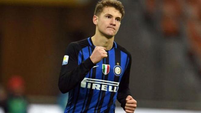 Facundo Colidio con el 'Primavera' del Inter.