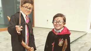 Thiago y Mateo Messi, disfrazados de Harry Potter