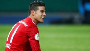 James Rodríguez, futbolista colombiano del Bayern Munich.