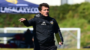 Guillermo Barros Schelotto, durante un entrenamiento con los Galaxy.
