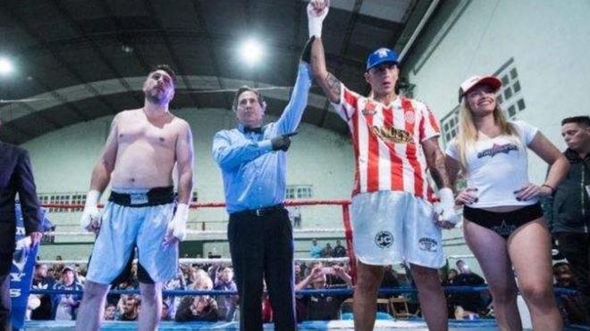 Pablo Migliore debutó como boxeador con un KO y con Chiqui Tapia