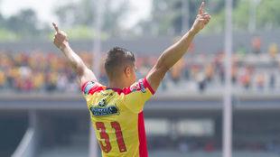 Lezcano celebra su gol en CU.