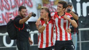 Albertengo marcó el gol con asistencia de La Gata Fernández