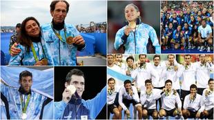 Medallistas argentinos en los últimos dos Juegos Olímpicos