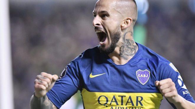 Darío Benedetto, autor del segundo gol de Boca ante Deportes Tolima