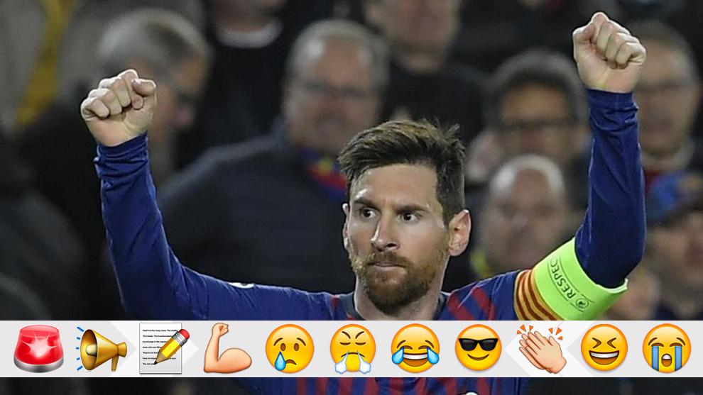 Messi celebra un gol contra el Barcelona.