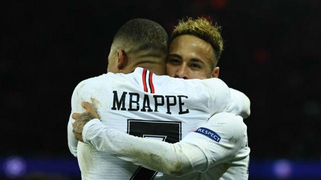Neymar y Mbappé, en un partido con el PSG.