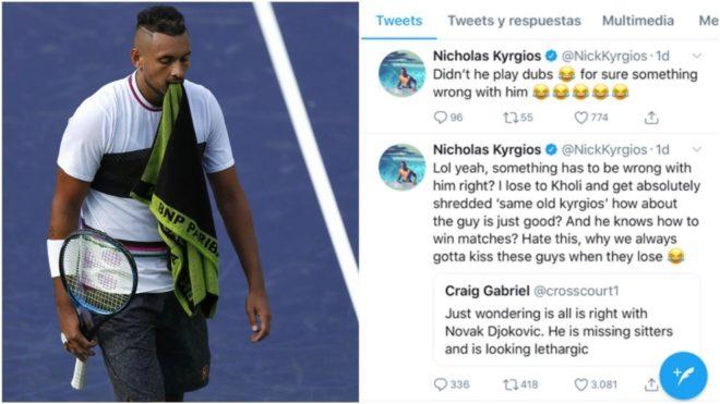 Kyrgios se mofó de Djokovic