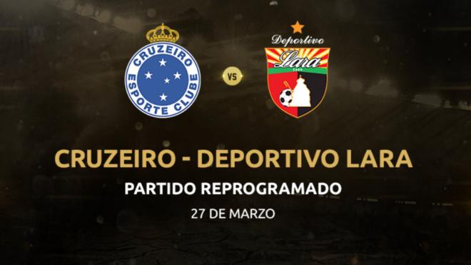 Deportivo Lara tuvo que reprogramar su partido ante Cruzeiro